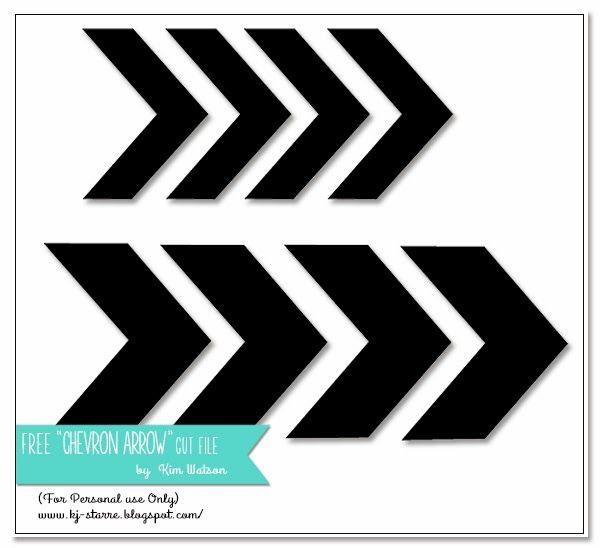 Free 'chevron arrow' cutting file - by Kim Watson #Silhouette #CutFile
