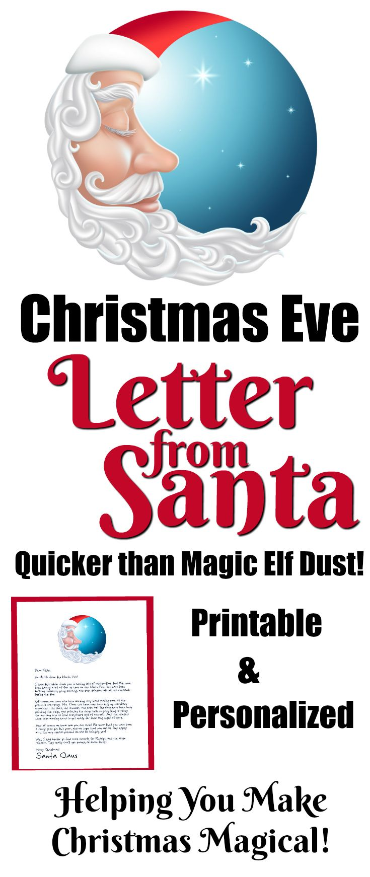 146 best printable santa letters images on pinterest christmas christmas eve letter from santa spiritdancerdesigns Choice Image