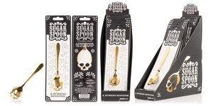 Skull Sugar-Spoon : Sugar is bad - enforce portion control.