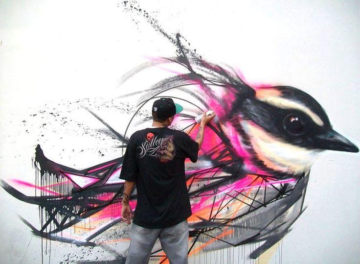 Seni Jalanan Lukisan Mural di Kota São Paulo di Brazil 1