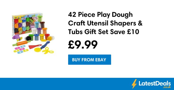 42 Piece Play Dough Craft Utensil Shapers & Tubs Gift Set Save £10 Free Delivery, £9.99 at ebay