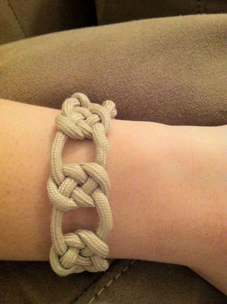 Khaki Paracord Josephine Knot Bracelet by jenciwsmith on Etsy