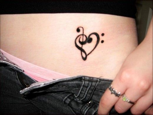 Music Heart Tattoo Designs