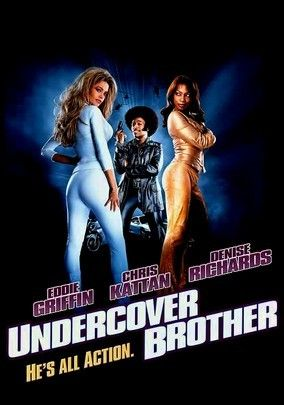 Undercover Brother stars Eddie Griffin as a private detective with 70s fashion disguises as a nerd to go undercover.  Unfortunately, the storyline, acting and directing all never comes together. Unlike movies of this genre, black comedy, this one ranks at the bottom.