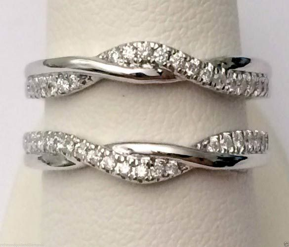 White Gold Solitaire Enhancer Ring Guard Wrap (0.25ct. tw)- RG321576072788