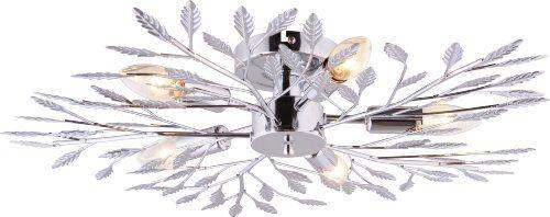 Leuchten Direkt Ceiling Light Fitting 5xE14 / 40W Chrome without Light Bulb