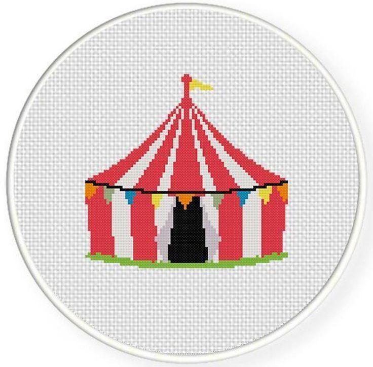 Carnival Tent Cross Stitch Pattern | Craftsy