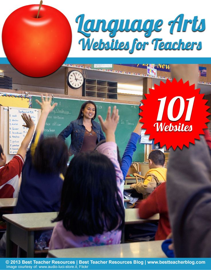 An excellent list of English Language Arts websites for teachers, including resources for ESL, grammar, literature, reading, writing, Shakespeare and more!