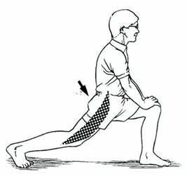 久坐拉筋:大腿前側