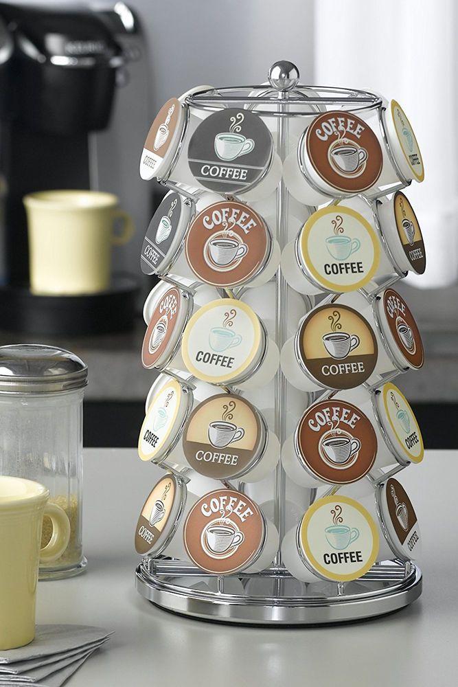 K Cup Holder Keurig Storage Coffee Pod Spinning Carousel Organizer 35 Pods Rack #Nifty