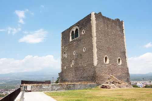 The Norman Castle of Paternò built by Roger I of Sicily in Catania, Sicily.
