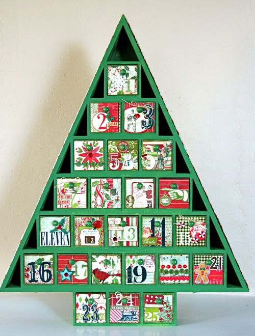 27 Best Wooden Advent Tree Images On Pinterest Advent