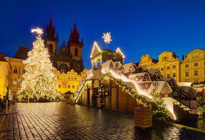 Christmas market at Old Town of Prague, Czechia