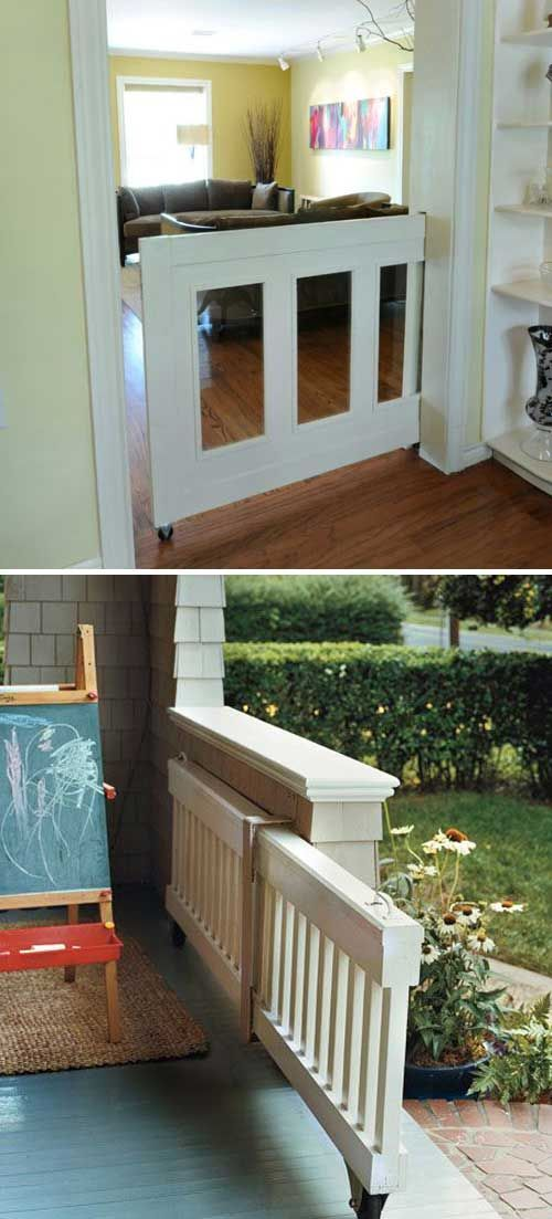 A pocket pet door stays hidden when not in use.