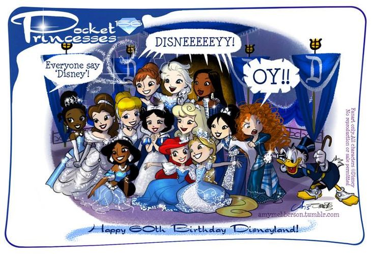 Pocket Princesses Disneyland Diamond Celebration (Guest cameo by Silvani Art) <3