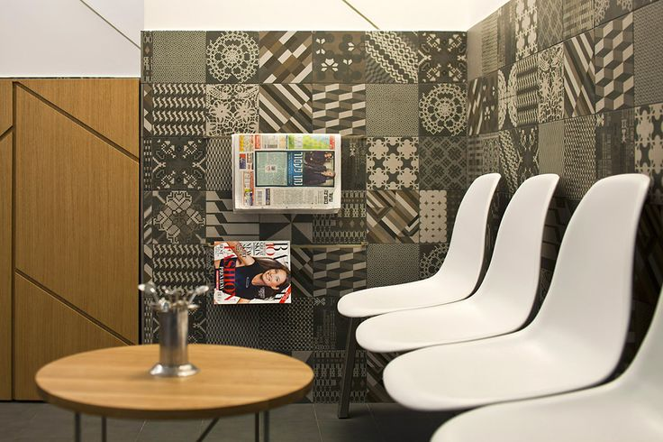 The walls of the waiting room in The Interior of a private clinic in Israel by OK-design, Netanya,Israel.
