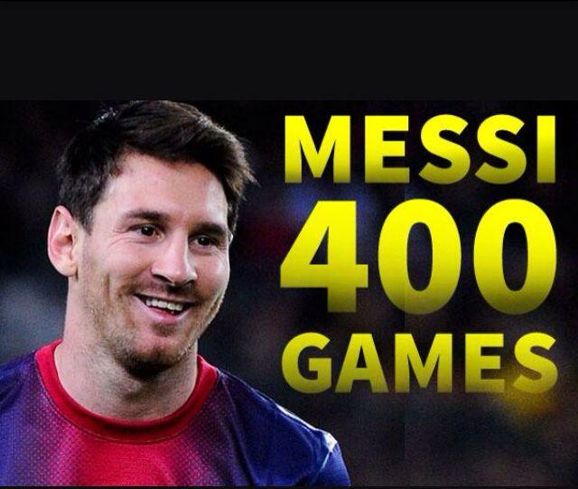 Leo Messi 400 partidos oficiales con el #FCBarcelona #Messi400 #igersFCB #Barça #Barcelona #Messi [vía MessiStats]