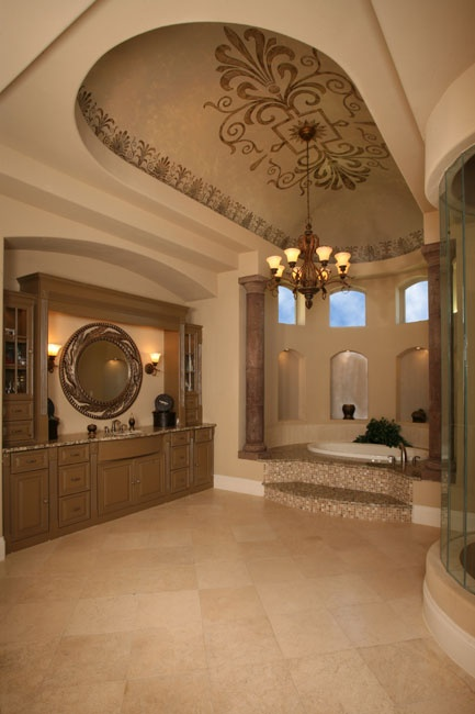 163 best ceiling design ideas images on pinterest for Pictures of master bathrooms in new homes