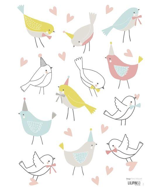 Sticker chambre enfant oiseaux