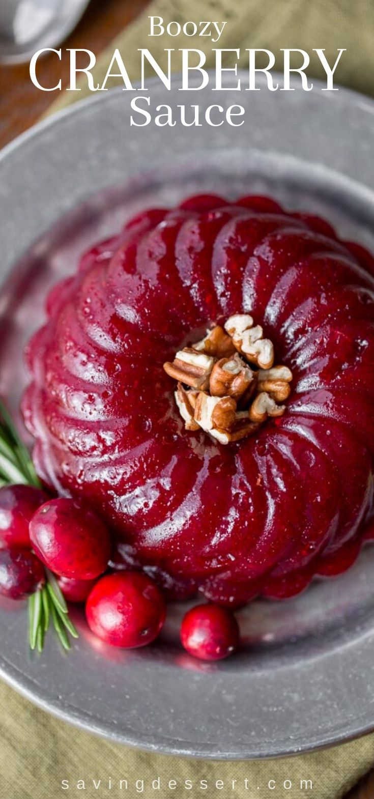 Boozy Cranberry Sauce Recipe Berries Recipes