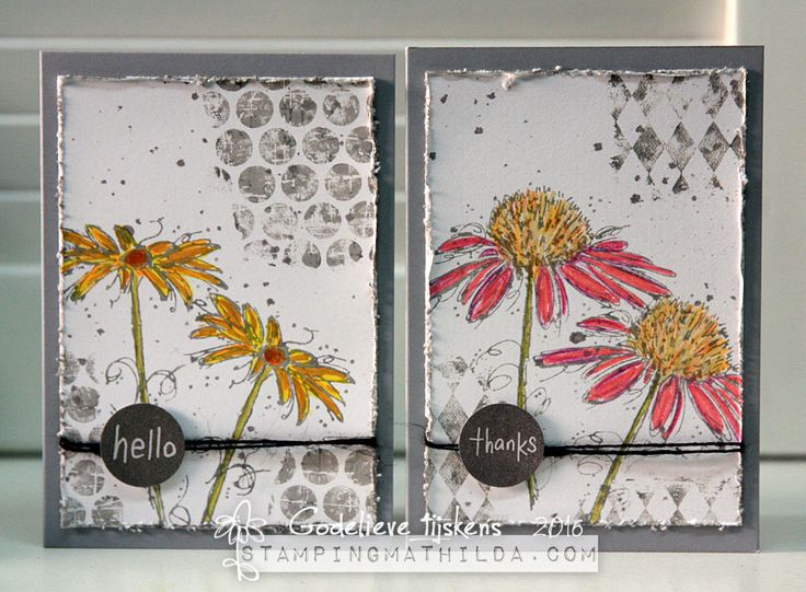 StampingMathilda: Set Of Cards - Darkroom Door's Fine Flowers