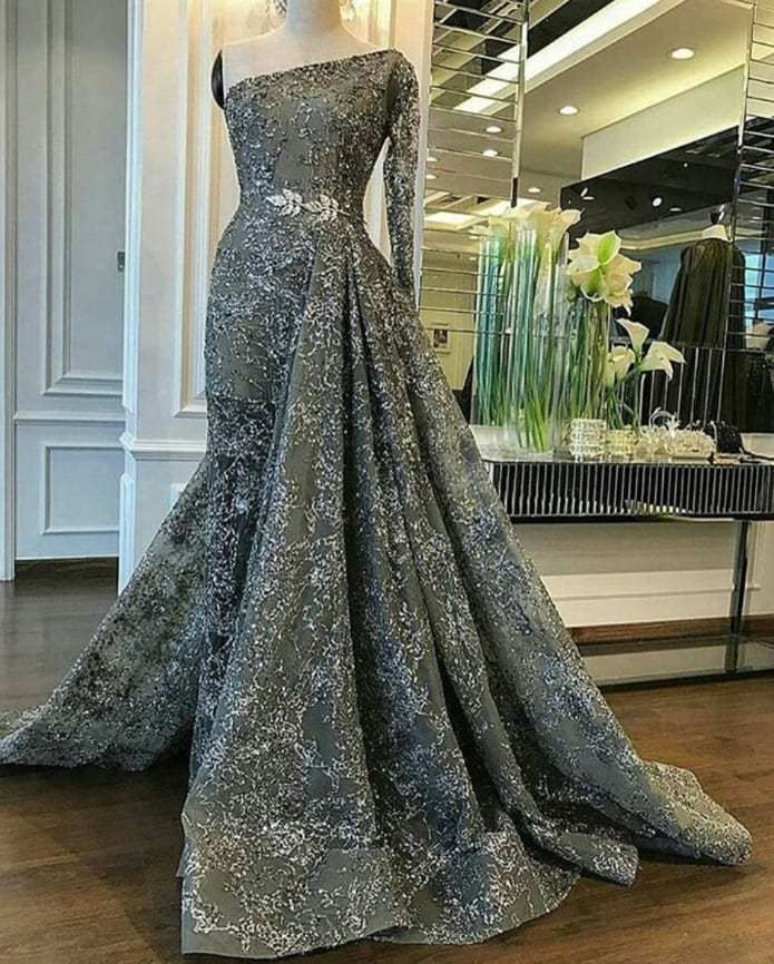 Nohemi Ventura One Arm Custom Ball Gown Darius Collection Classy Evening Gowns Couture Evening Dress Evening Gowns