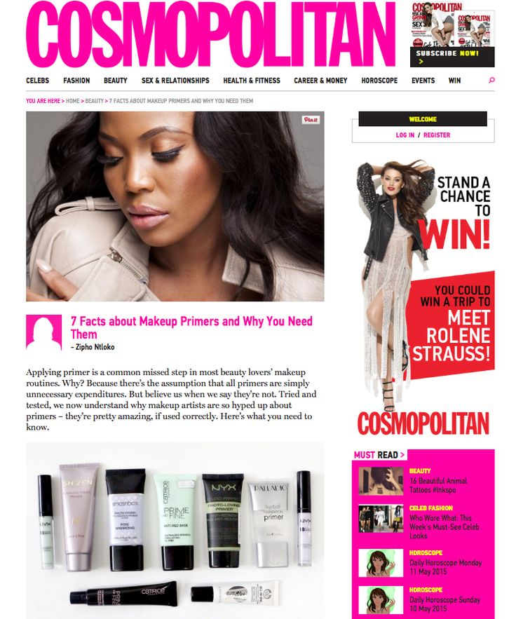 We spotted our Flawless Finish Primer in the Cosmopolitan. Find out more about this fabulous product here: http://bit.ly/1OyHOt1