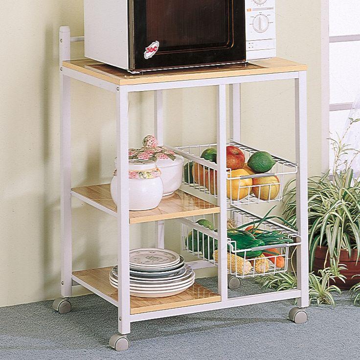 Wildon Home ® Lake Havasu Microwave Cart with Wood Top & Reviews | Wayfair