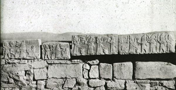 Malatya- Arslantepe (mostly) in situ frieze blocks
