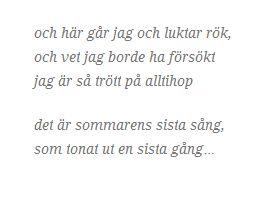 peter jöback - sommarens sista sång