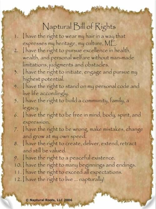 Naptural bill of rights.