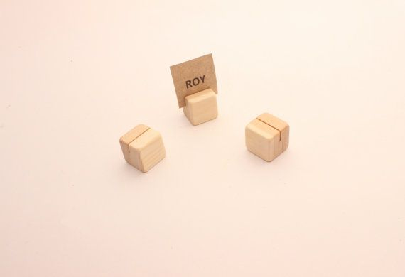 Set of 50 100 wooden card holders  Table number by WoofWoofWood