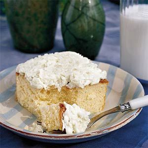 Coconut Sheet Cake, Southern Living...Coconut cake just got easier. Make a sheet cake instead of a layer cake for a dessert that's as easy as it is delicious. Top with cream cheese icing and a sprinkle of coconut for a cool, delicious dessert.  Also, 87 top dessert Recipes from Southern Living! :)