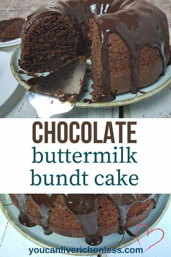 The Best Buttermilk Chocolate Cake You Make In One Bowl Video Recipe Buttermilk Chocolate Cake Dessert Recipes Easy Cakes Made With Buttermilk