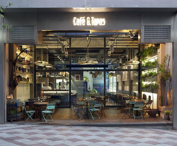 Café & Tapas refresca su imagen con su nuevo local en la madrileña calle Montera.   diariodesign.com