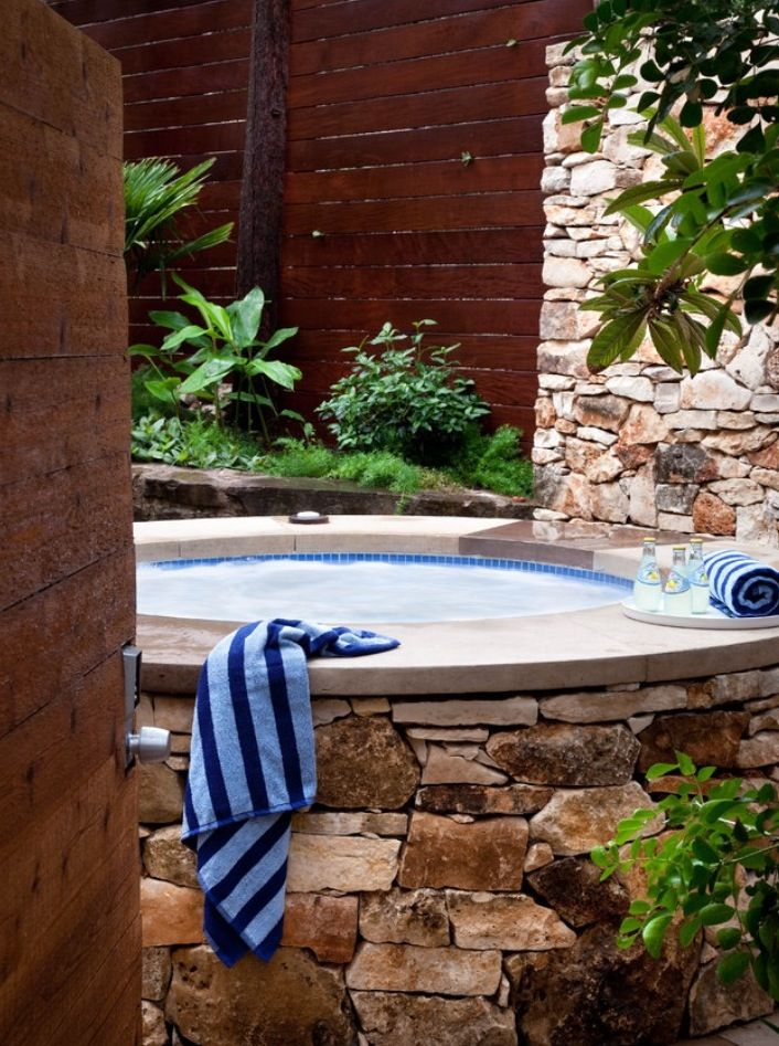 8 best Hot Tubs images on Pinterest Backyard, Gardens and - whirlpool sichtschutz