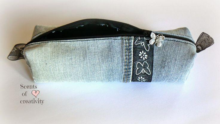 Porta matite riciclo jeans