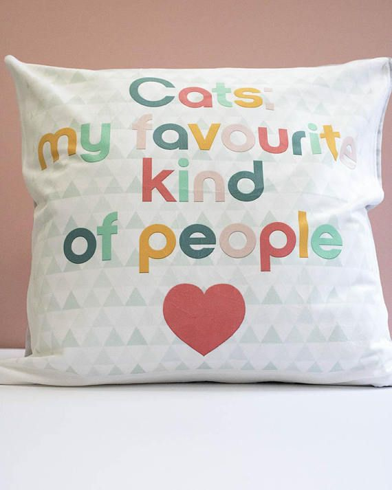 This listing is for an original LEAPUP design cushion cover Made with Woof by British designer Leanne Warren. The Cats: my favourite kind of people design is the perfect decor for cat lovers and would make a great addition to any modern home or contemporary living space. The