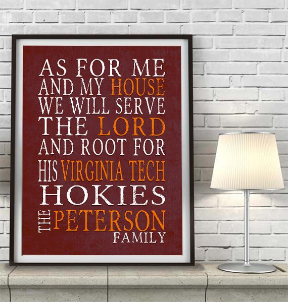 Hey, I found this really awesome Etsy listing at https://www.etsy.com/listing/204944353/personalized-name-virginia-tech-hokies