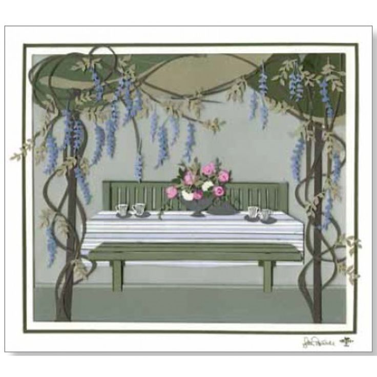 1033 Greeting Cards Wisteria – Pack of 2 (incl. envelopes)