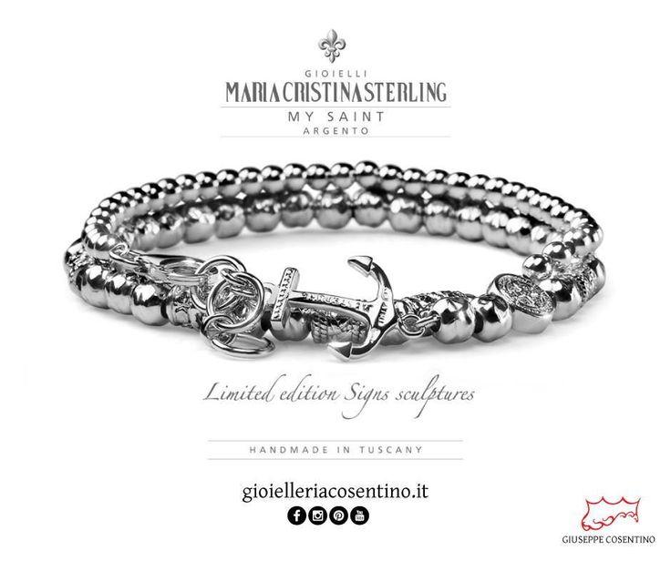 MARIA CRISTINA STERLING                                   My Saint Argento ▪ Disponibili presso Gioielleria Cosentino, Corso Manfredi 181   tel.0884 512858  FIND MORE > http://www.gioielleriacosentino.it/it/brands#gioielleriacosentino #mariacristinasterling #bracciali #bracelet #argento #gioielli #madeintuscany #jewellery #ancora #love #italy #manfredonia