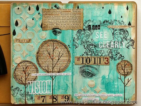 Journal Pages created by Ann-Karin using the kit designed by Shari Carroll for Simon Says Stamp.