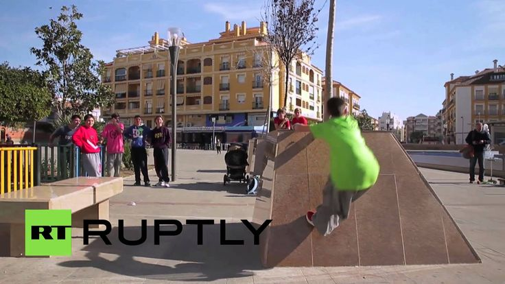 Daring somersaults, leaps over great distances, and other tricks that are staples of parkour were all performed by 12-year-old Ruben Roldan in the Spanish municipality of Rincon de la Victoria on Saturday, despite the fact Roldan has only one leg.
