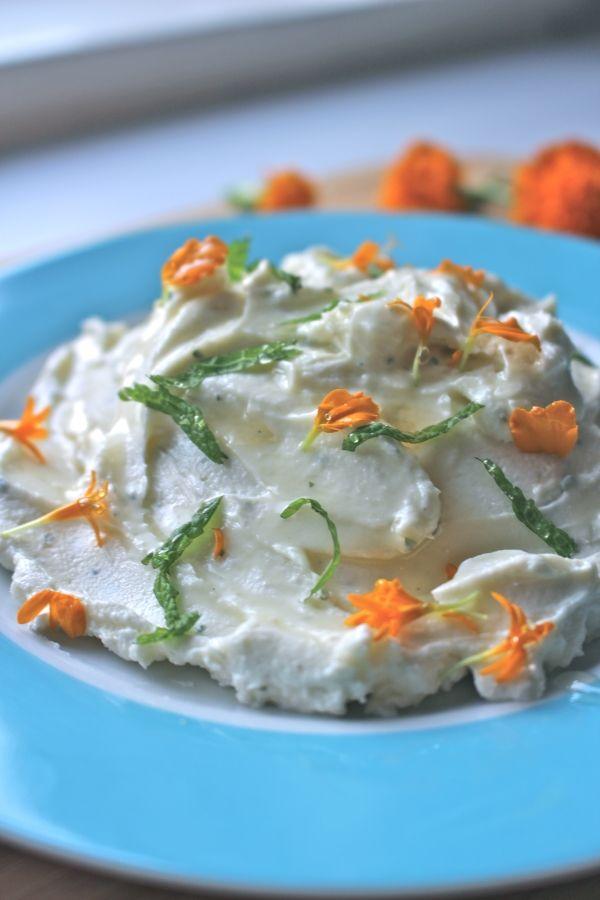 ricotta-goats-cheese-honey-mint-dip. Simple recipe here http://foodiesagenda.com/goats-cheese-ricotta-honey-dip/
