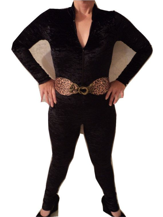 mjcreation custom order  catsuit unitard zipper in by mjcreation, $155.00