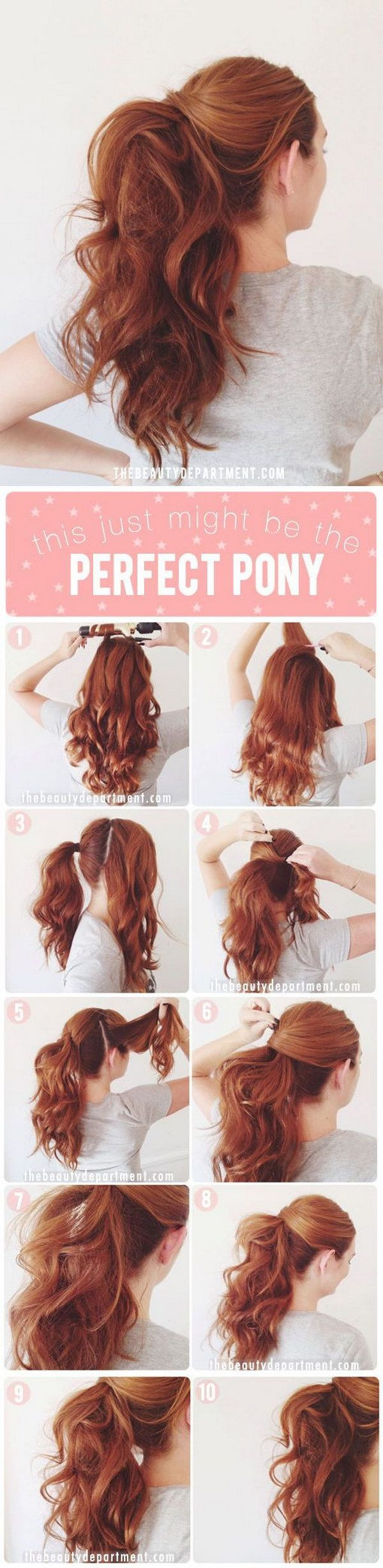 how to make a messy ponytail with curly hair