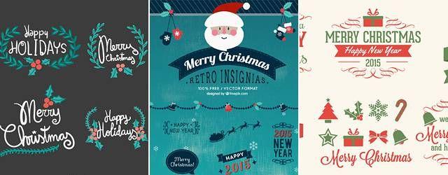 無料素材:クリスマスの見出しデザインはこれでOK!装り文字ベクターまとめ