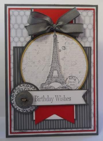 pretty Paris themed card
