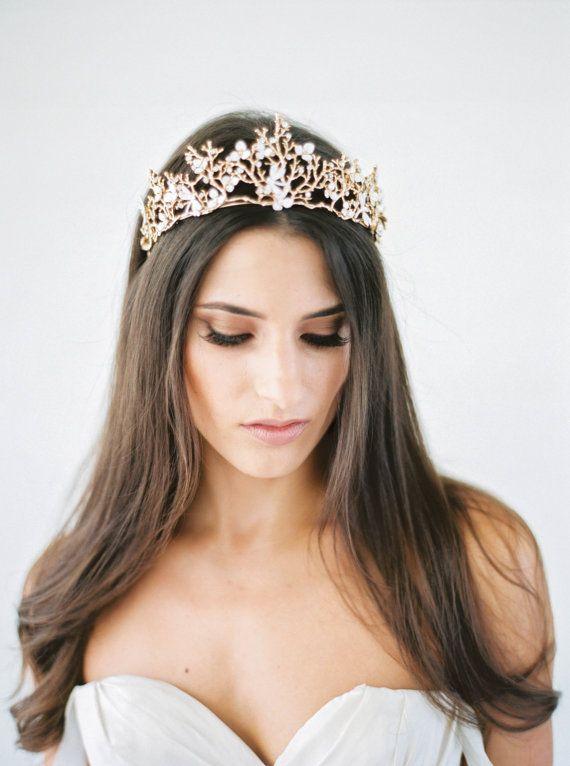 Bohemian Crown Bridal Headpiece Bridal Headband by GildedShadows