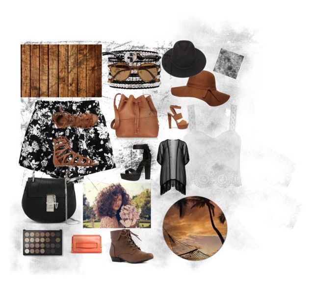 Woody brown textures by caitymillner on Polyvore featuring polyvore, beauty, Ray-Ban, Brixton, Dorothy Perkins, Chloé, Sophie Hulme, Maxima, Chicnova Fashion, Steve Madden and O'Neill